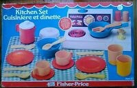 Vintage 1979 Fisher Price Kitchen Set #919 Stove and Dish Set with Box