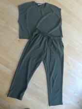 ZARA ladies green 2 piece tracksuit top & trousers co ord set UK 10 - 12
