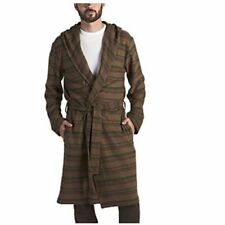 RARE UGG Miles Striped Hoodie Cotton Robe Brown Mens Size XL MSRP $125