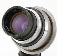 PO3-3M lens f/2 50mm USSR 35mm movie cine camera KMZ RO3-3M MFT BMPCC NEX CANON