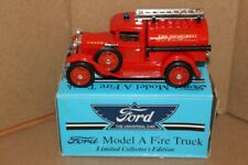 Spec Cast Ford Model A Fire Truck Die Cast Bank Excellent Condition