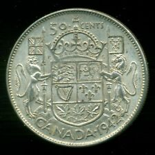 1942 King George VI, Silver Fifty Cent Piece,    I17