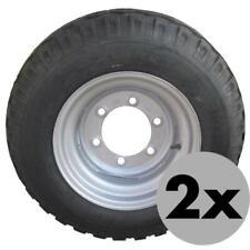 2 Stück Komplettrad 10.0/75-15.3 6-Loch, ET-5, 10PR, LK 205, 1550kg Anhängerrad