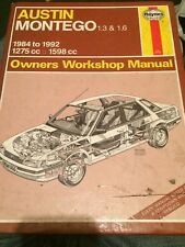 HAYNES MANUAL 1066  AUSTIN MONTEGO 1.3 & 1.6 , 1984-1992