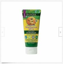 Badger Anti-Bug Sunscreen, SPF 34, Citronella & Cedar, Water Resistant - NEW