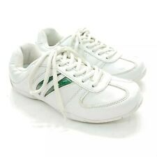 Chasse Flip Iii White Green Side Stripe Cheer Shoes Cheerleading Girls Size 4