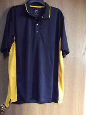mens ultra club shirt  size large,med. small..new..navy & yellow..cool &dry/golf