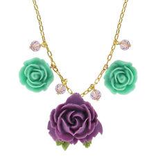 "Tarina Tarantino Parade ""Pasadena"" Necklace Purple & Mint *Made in California*"