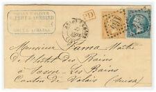 France cover 1868 Arles to Saxon les Bains (SW) - Fresh