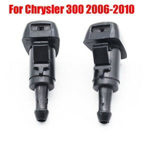 2Pcs Front Windshield Wiper Washer Hood Jet Sprayer Nozzle For Chrysler 300