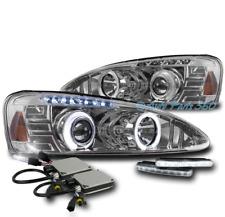 04-08 PONTIAC GRAND PRIX HALO LED PROJECTOR HEADLIGHTS LAMP CHROME W/DRL+HID KIT