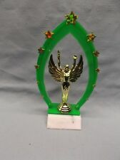 victory trophy award green star backdrop marble base Free Lettering