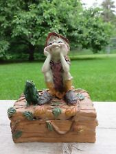 Pixie with Pet Frog Trinket Box Anthony Fisher Artist Pixies Boy Gift New Resin