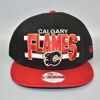 Calgary Flames NHL New Era 9FIFTY Word Stripe Men's Adjustable Snapback Cap Hat
