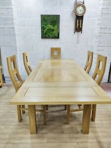 Oak Furniture Land Dining Table, 6 Chairs, Great Condition, Free Delivery 🚚