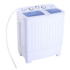Portable Mini Compact Twin Tub 11lb Washing Machine Washer Spin Dryer