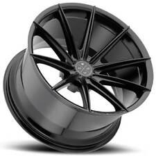 "4ea 22"" Staggered Blaque Diamond Wheels BD-11 Gloss Black Rims (S2)"