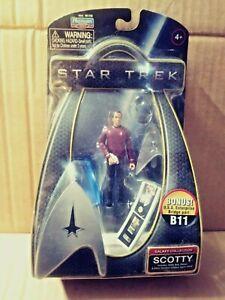 Star Trek 2009 movie Playmates action figure Scotty w bridge part mip