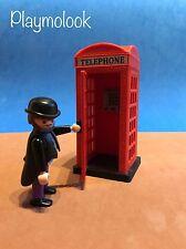 CABINA TELEFONICA ENGLISH CUSTOM LONDON PHONE BOOTH PLAYMOBIL FIGURE DOESN'T