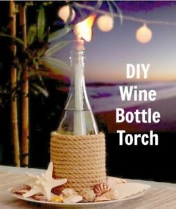 DIY Tiki Torch Macrame Wick Kit Garden Lighting Outdoor Oil Lantern Flame Torch