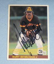 Kurt Bevacqua Signed 1984 Donruss Padres Baseball Card 80 Autograph World Series