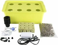 8-Holes Deep Water Culture Hydroponic System Growing Kits Planting Box Indoor