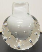 Vintage Circa 1970 Italian Murano Sommerso Bullicante Glass Bottle Vase