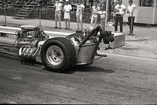 Front Engine Dragster - Vintage B&W 35mm Race Negative