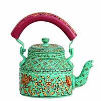 Traditional Meenakari Kettle Hand Painted Tea Pot Aluminum Home Décor Showpiece