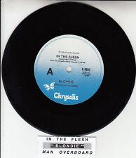 "BLONDIE In The Flesh 7"" 45 rpm vinyl record + juke box title strip"