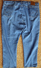Wrangler RUGGED WEAR Jeans Relaxed Fit Classic Rise Blue Denim Pants - Men 44x30