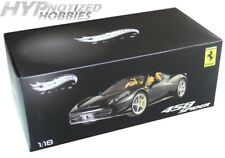 HOT WHEELS ELITE 1:18 FERRARI 458 SPIDER DIECAST BLACK BCJ90