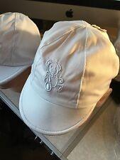 Gorra de Bebé Niño Sol Sombrero Gorra blanco o azul pálido Forrado Bordado Oso 0-3 3-6