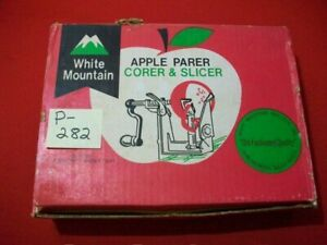 WHITE MOUNTAIN APPLE PARER CORER & SLICER CLAMP-ON WITH ORIGINAL INSTRUCTIONS
