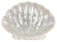 Vintage Capiz Shell Scallop Tray Trinket Dish Rustic Farmhouse Coastal Decor
