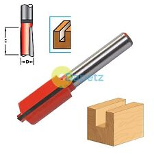 "1/4"" Shank Straight Metric Cutter Router Bits Woodwork 20mm Long x 12mm Diameter"