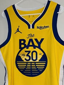 Stephen Curry Signed Warriors Nike Autographed NBA Auto Jersey JSA & CURRY COA