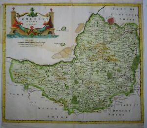 Antique map of Somerset by Robert Morden 1695