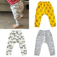 Infant Baby Boys Girls Casual Trousers Cartoon Long Pants Leggings Clothes Soft