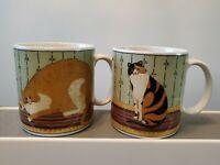 Mina the Bat Cat Full Moon Coffee Mugs