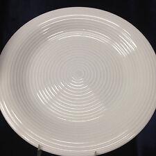 "CERTIFIED INTERNATIONAL METRO WHITE DINNER PLATE 11 3/8"" EMBOSSED RINGS"