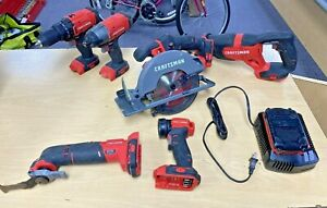 Craftsman 6pc 20v Combo Set w/ Single Battery & Charger (CMCK600D2) *Pre-owned