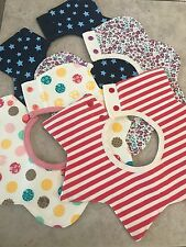 Fashionable drool bibs for girls~ NEW style of bib that is trendy and CUTE-4pack