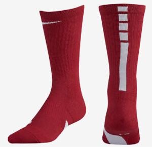 Nike Elite Basketball Socks Kids Shoe 3Y-5Y, S, Red, 4-6, Crew SX7626-613 S6, P
