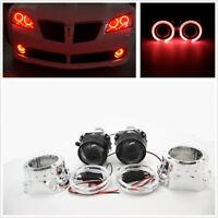 "H1/H4/H7 2X 2.5""HID Bi-xenon Projector Lens LHD/RHD Red Angel Eyes Car Headlight"