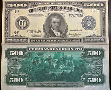 Reproduction Copy 1918 $500 Federal Reserve Note Currency USA See Description