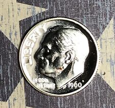 1960 SILVER ROOSEVELT DIME PROOF. COLLECTOR COIN FOR YOUR SET OR COLLECTION.