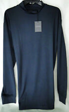Dunning Golf L/S Mock Shirt in Navy PGA Tour Quality MSRP $89 NWT Stretchy - MED