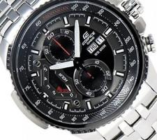 Casio Edifice Men Watch EF-558D-1AV Chronograph Stainless Steel Movement Quartz