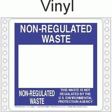 Non-Regulated Waste Vinyl Labels HWL250V (Pack of 500)